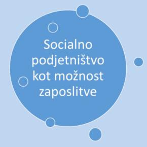 Socialno podjetništvo kot možnostzaposlitve!
