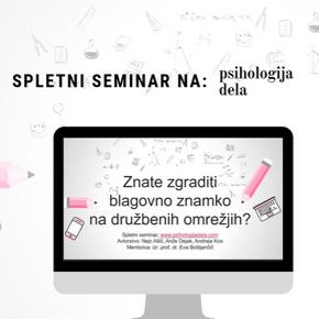 Napovedujemo: prvi spletni seminar na naši spletnistrani
