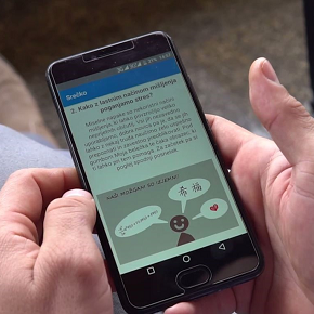 Z mobilnimi aplikacijami nad stres(video)