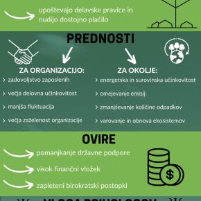 Prednosti, ovire in vloga psihologov pri vzpostavljanju zelenih delovnihmest